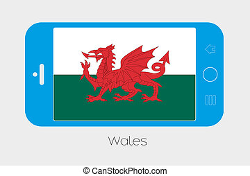 Mobile Phone with the Flag of Wales