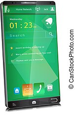 Mobile phone with thin display bezel - Modern large...