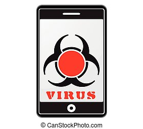 mobile phone with virus