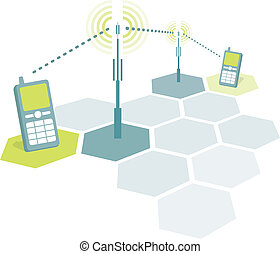 Mobile phones connecting 2