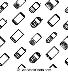 Mobile phones seamless pattern