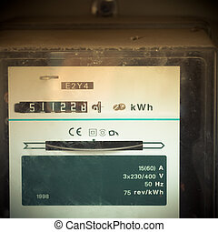 Mobile photography toned old analog power meter