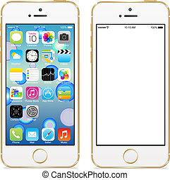 mobile, pomme, téléphone