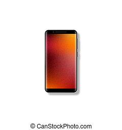 mobile, réaliste, smartphone., 3d