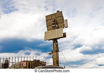 mobile, radar, station, russe, armée