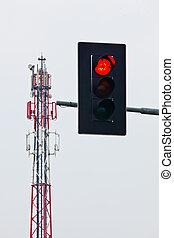 Mobile radio transmission tower