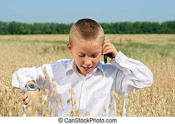 mobile, ragazzo, telefono