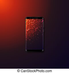 mobile, realistico, smartphone., 3d