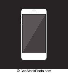 mobile, realistico, telefono, collection.