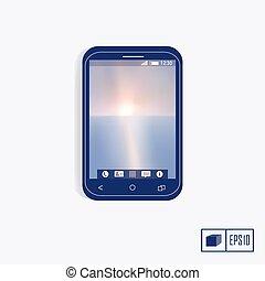 mobile, realistico, telefono