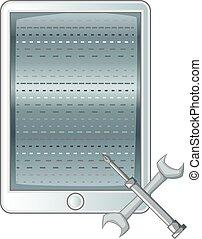 Mobile repair icon monochrome