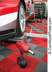 Mobile repair shop of motosport team