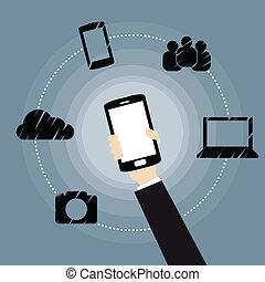 mobile, reti