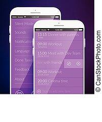 Mobile Screen Template