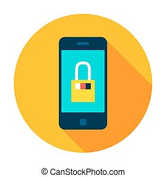 Mobile Secure Circle Icon