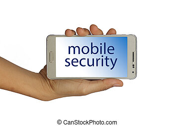Mobile security concept isolated