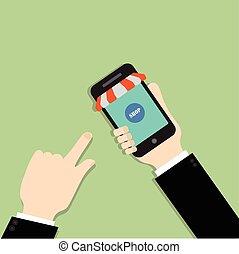 Mobile shopping. Online shopping