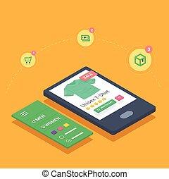 mobile shopping with smarthone responsive eshop