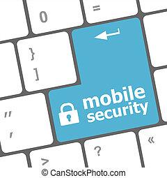 mobile, sicurezza, chiave, su, il, tastiera, di, computer portatile