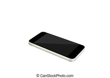 Mobile smart phone,  isolated on white background