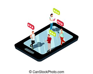 mobile, smartphone, concept, texting