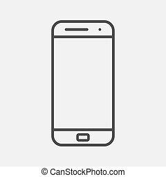 Mobile smartphone icon vector illustration