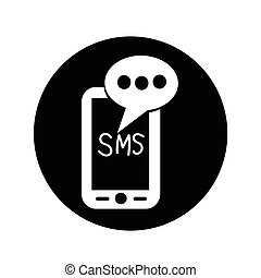 Mobile sms text message mail icon illustration design