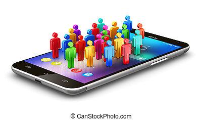 Mobile social media concept