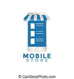 Mobile store graphic design template vector