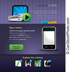 mobile stuff website template