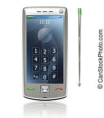 mobile, stylus, 3g, pda, téléphone