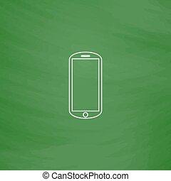 mobile, symbole, informatique