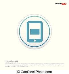 mobile, -, téléphonez icône, cercle, bouton, blanc