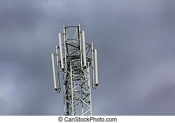 mobile, téléphonie, tour, repeater