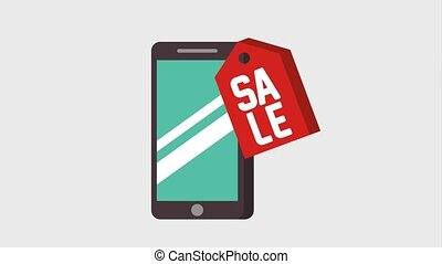 payment mobile online animation - mobile tag price sale...