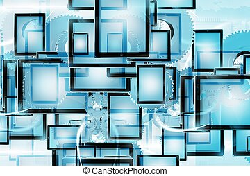 Mobile Technology Background - Mobile Technology Cool Blue ...