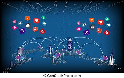 mobile technology connect the whole world with various applications