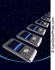 Mobile technology - Mobile phone consecutive concept