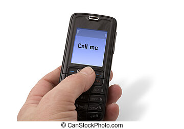 mobile telefon, -, hívás, én