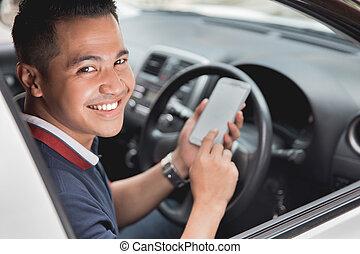 mobile telefon, időz, vezetés