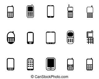 mobile telefon, ikonok