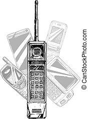 mobile, telefono., evolution.