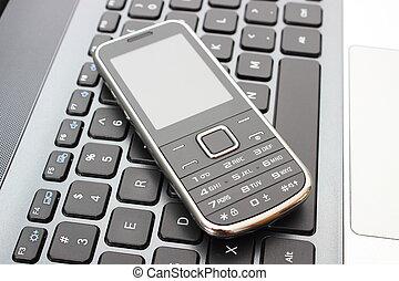 mobile, telefono,  laptop, tastiera
