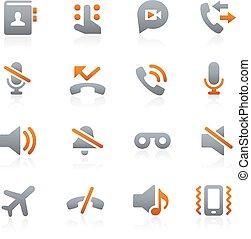mobile, toile, 1, graphite, icônes