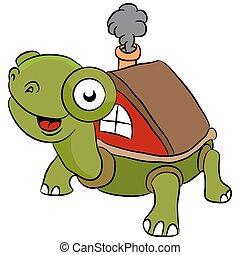 mobile, tortue, dessin animé