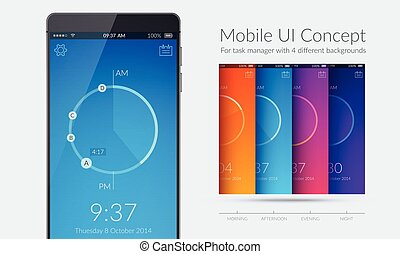 Mobile UI Kit - Mobile ui kit concept for task manager with...