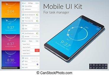 Mobile UI Kit - Mobile ui kit design concept for task manage...
