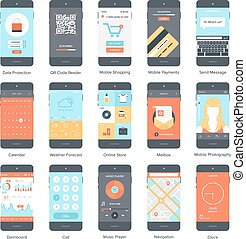 Mobile UI set