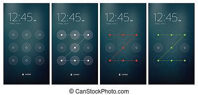 Mobile UI unlocking