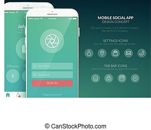 Mobile User Interface Template